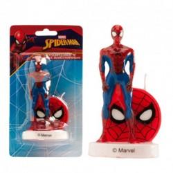 """Bougie d'anniversaire """"Spider-man et son masque"""""""