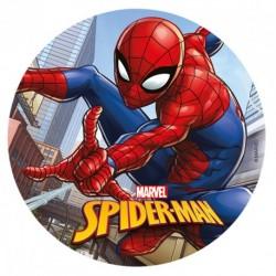 """Disque azyme """"Spider-man tisse sa toile"""" - 20 cm"""