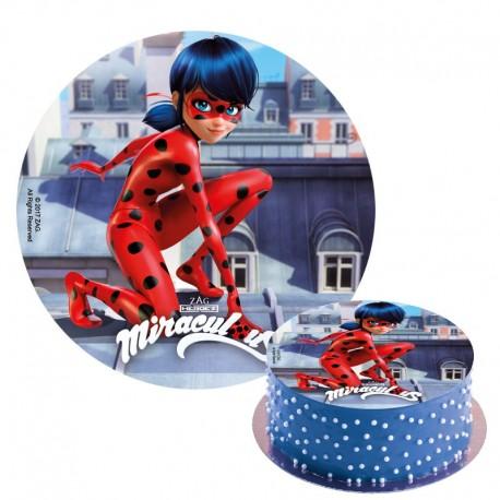 """Disque en sucre """"Ladybug"""" - 20 cm"""