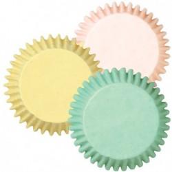 75 caissettes standard couleurs pastel