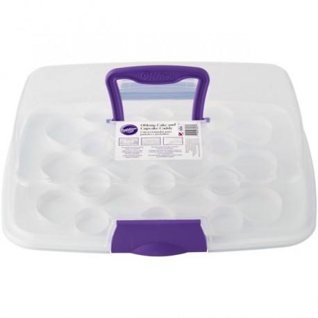 Boîte rectangulaire pour gâteau et cupcakes - 44 x 33 x 10 cm