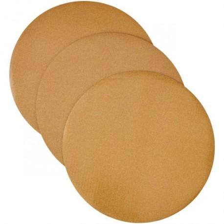 Lot de 3 cake boards ronds dorés - 30,4 x 0.2 cm