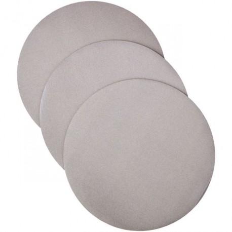Lot de 3 cake boards ronds argenté - 30,4 x 0.2 cm