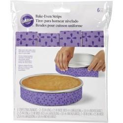 6 bandes de cuisson - gâteau homogène