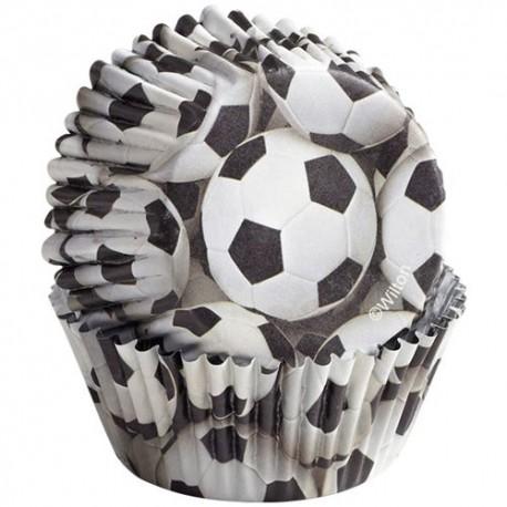 "36 caissettes standard ""Ballon de foot"""