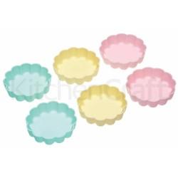 6 moules à tartelettes en silicone
