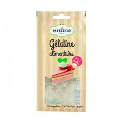 Gélatine alimentaire sachet 12 g (6 feuilles)