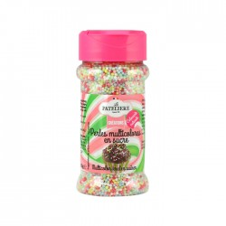Perles multicolores en sucre colorants naturels 80 g