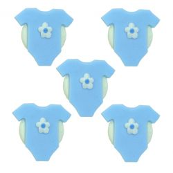 """5 décors en sucre - """"Bodys bleus"""""""