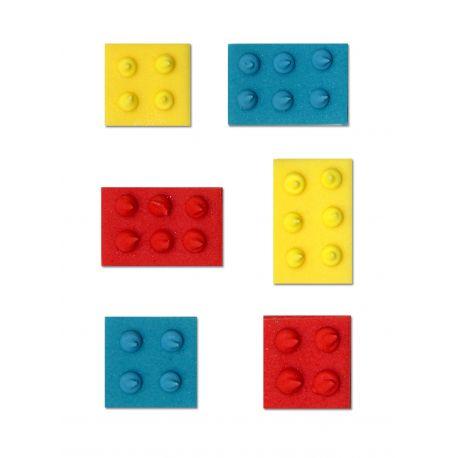 """6 décors en sucre - """"Jeux d'enfants colorés"""""""