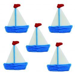 """5 décors en sucre - """"Petits bateaux"""""""