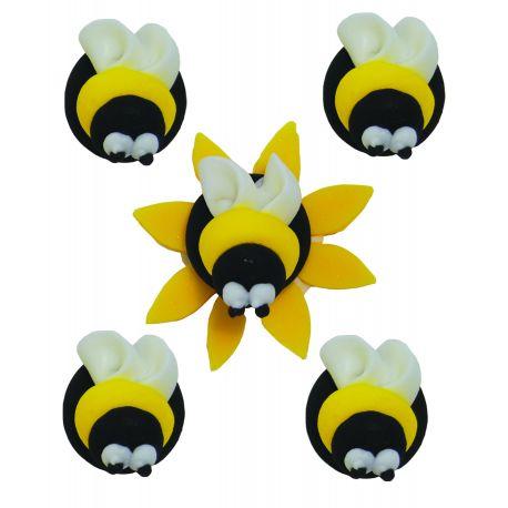 """5 décors en sucre - """"Madame l'abeille et ses copines"""""""