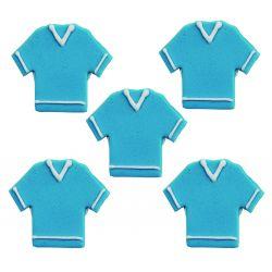 "5 décors en sucre - "" T-shirt bleu"""