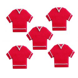 """5 décors en sucre - """"T-shirt rouge"""""""