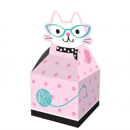 """8 boîtes à confiseries - """"Madame chat"""""""