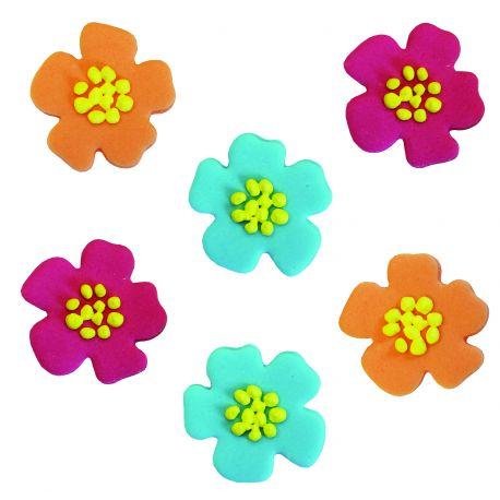 6 Decors En Sucre Fleurs D Hibiscus
