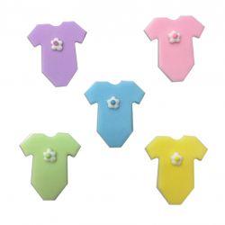 """5 décors en sucre - """"Bodys de bébé"""""""