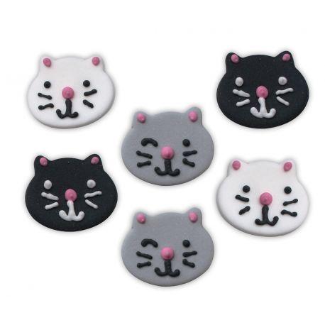 """6 décors en sucre - """"P'tits chats trop chou"""""""