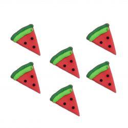 """6 décors en sucre - """"Pastèques"""""""