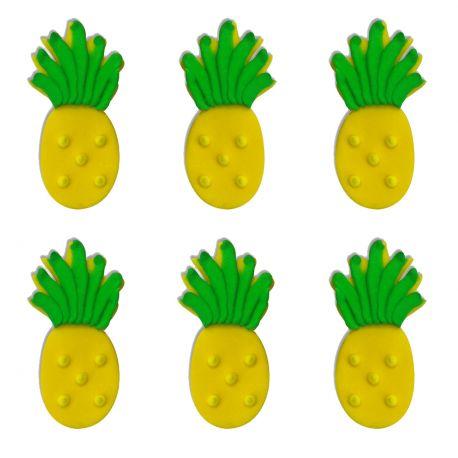 """6 décors en sucre - """"Ananas"""""""