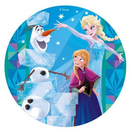 Disque en sucre Elsa et Ana