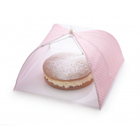 """Cloche à gâteau """"Parapluie rose à pois blancs"""""""