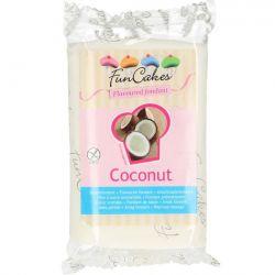 Pâte à sucre blanche aromatisée à la noix de coco - 250 g