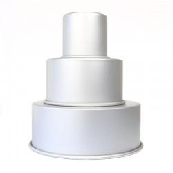 3 moules à gâteaux ronds pour wedding cake 10,2 - 17,2 - 25,4 x 10,2 cm