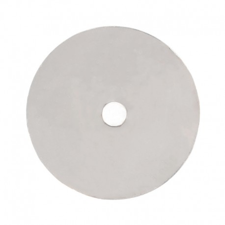 Cake board rond argent troué au centre - 29 x 0.2 cm