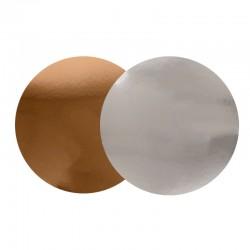 3 supports à gâteaux double face or et argent - Différentes tailles