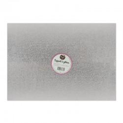 Cake board rectangulaire argent - 25,4 x 35,5 x 0.2 cm