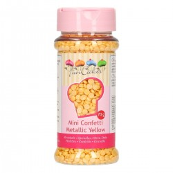 Mini confettis jaune métalique