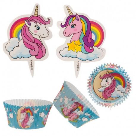 Kit décoration cupcakes licornes