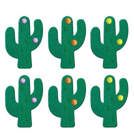 """6 décors en sucre """"Cactus"""""""