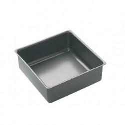 Moule carré anti-adhésif de 20 x 7cm avec fond amovible