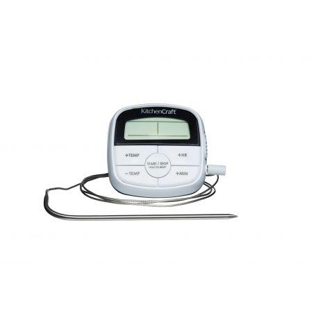 Thermomètre sonde digital - blanc