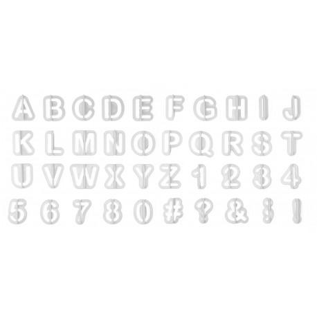 """Emporte-pièces """"alphabet et chiffres"""""""