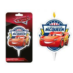 Bougie d'anniversaire cars - 6,5 cm