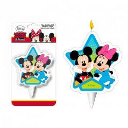"Bougie d'anniversaire ""Minnie et Mickey les stars"""
