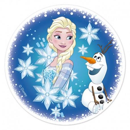 Disque de p te sucre la reine des neiges 16 cm - De la reine des neiges ...