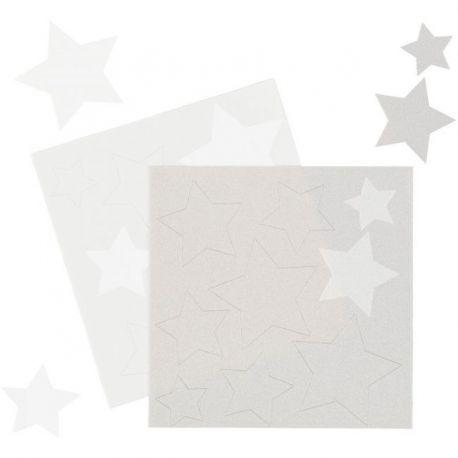 Etoiles en sucre - Blanc et argent