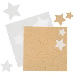 18 étoiles en sucre - blanc et or
