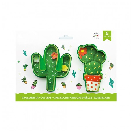 """Lot de 2 emporte-pièces """"Cactus"""""""
