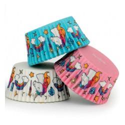 """75 caissettes à cupcakes standard """"La plus jolie licorne"""""""