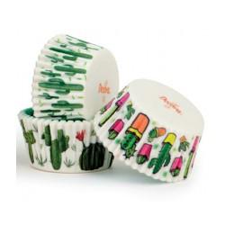 """75 caissettes à cupcakes standard """"Cactus"""""""