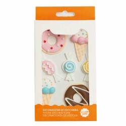 """7 décors en sucre """"Bonbons, glace et donuts"""""""