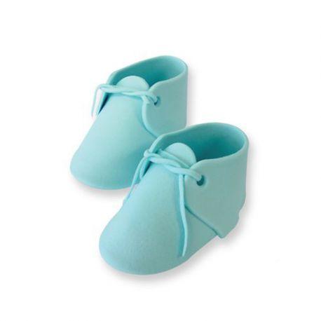Chaussons de bébé en sucre - Bleu