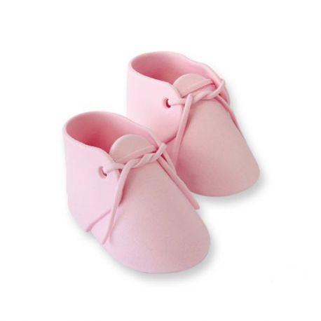Chaussons de bébé en sucre - Rose
