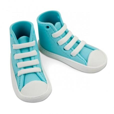 Baskets de bébé en sucre - Bleu