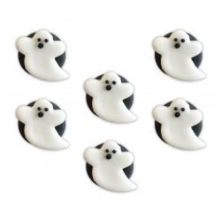 6 décors en sucre fantôme